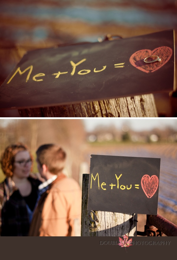 Cute engagement prop! http://doublekphotography.blogspot.com/2012/01/johannah-anthony-engaged-warsaw-in.html