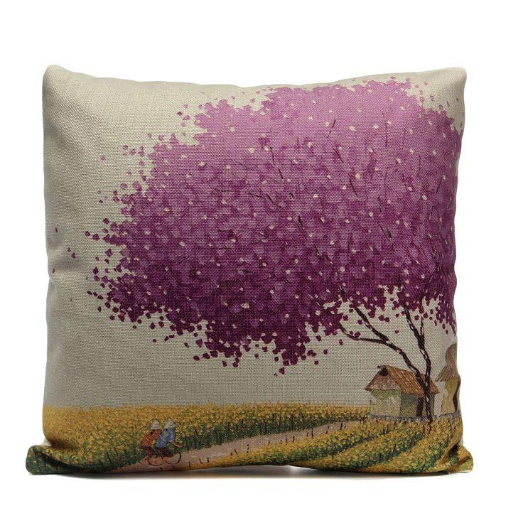 Details about Vintage Cotton Linen Cushion Cover Waist