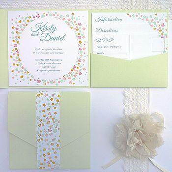 Confetti Pocketfold Wedding Invitation