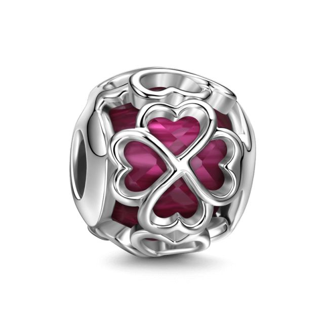 Rose Pink Lucky Stone - Good Luck - Charms
