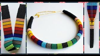 "Колье из бисера ""Народное"" Гердан. Бисероплетение. Мастер класс / necklace of beads. Beading - YouTube"