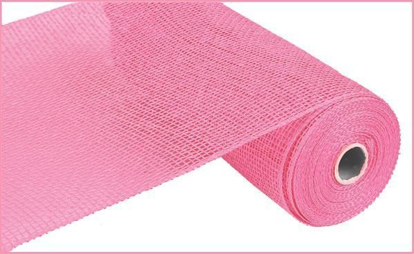 10 Poly Burlap Mesh Pink Deco Mesh Wreath Supplies Burlap
