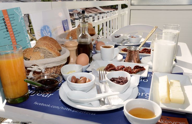 Healthy tsakonian breakfast that is served from our hotel in Tyros Peloponnese Greece.