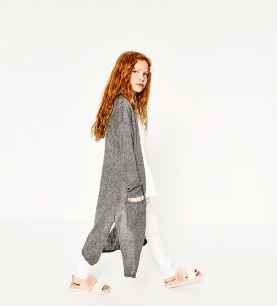 ZARA - KIDS - LONG TWIST KNIT CARDIGAN