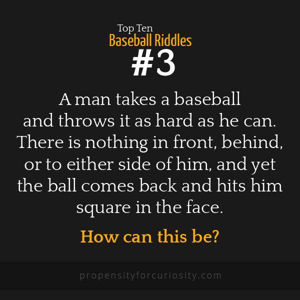 Top ten baseball riddles.