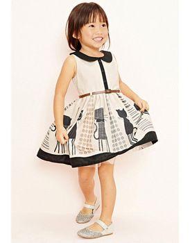 kleine baby peuter meisjes jurk kind kleding cliënteel kinderen dragen jurken voor meisje kat riem deguisement vetement enfant fille