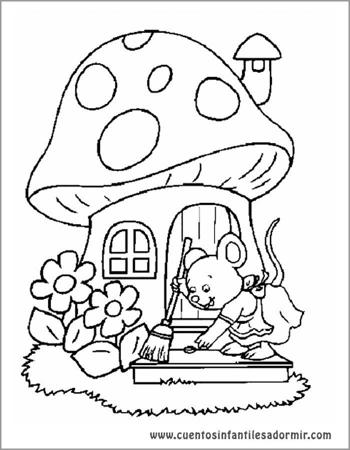 Dibujo Para Colorear Cuentos La Ratita Presumida Dibujos