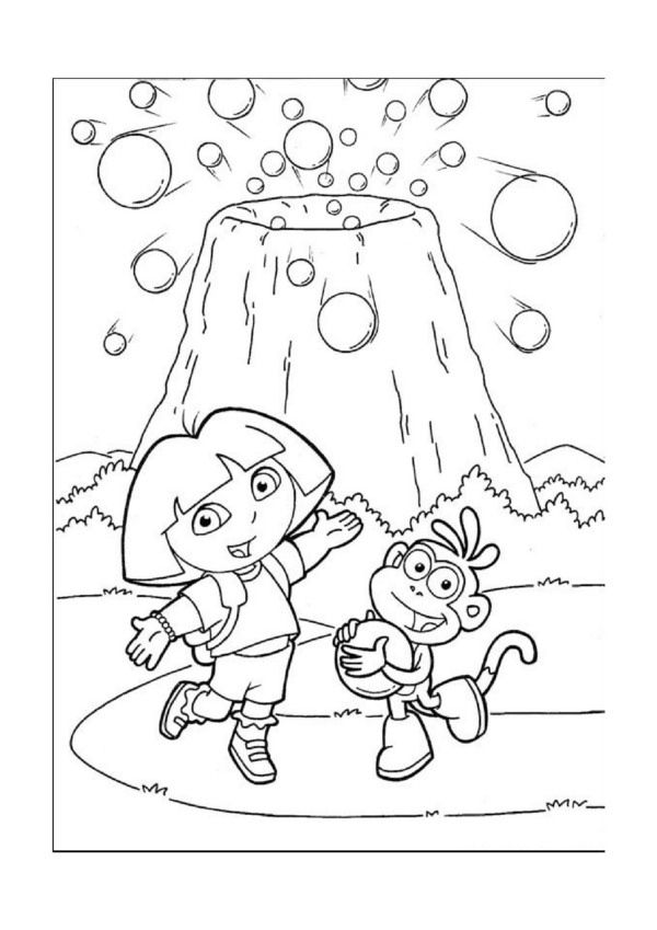 dora face coloring pages - photo#16