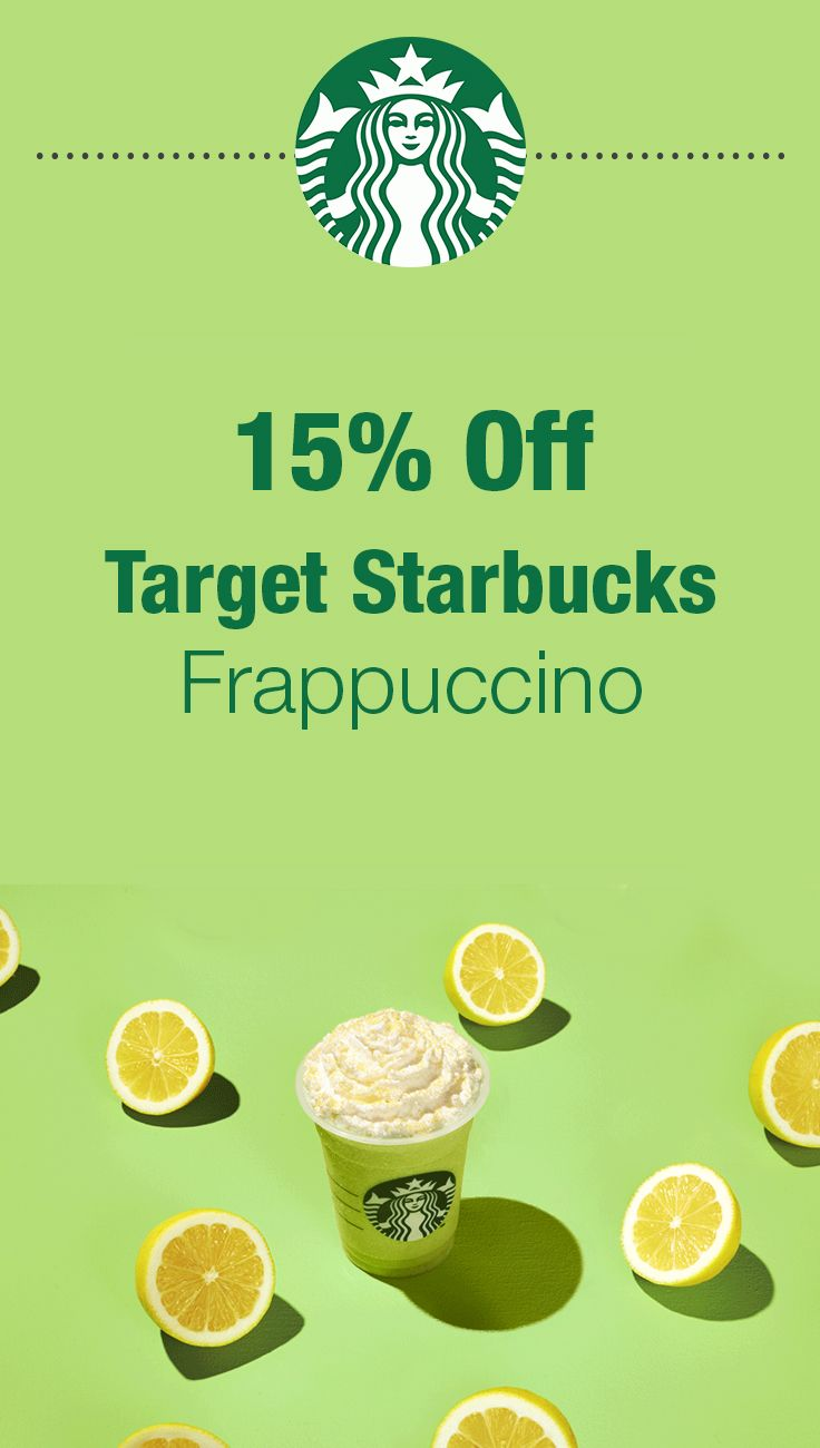 Right now until 7/29, get 15% off Starbucks Frappuccinos in participating Target Starbucks locations [store locator]. Simply add this Target Cartwheel coupon and present it in-store.