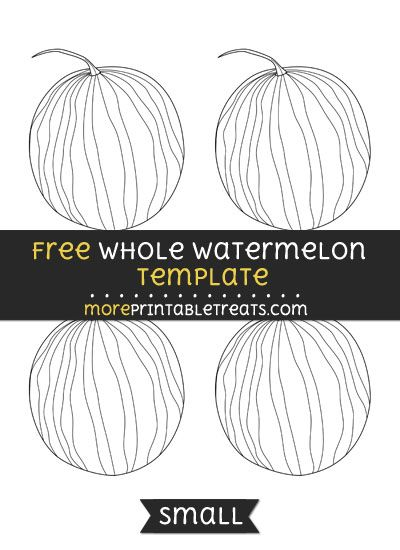 free whole watermelon template small shapes and templates