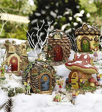 Winter Fairy Village- pinecones