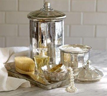 Mercury Glass Bath Accessories - bath and spa accessories - Pottery Barn
