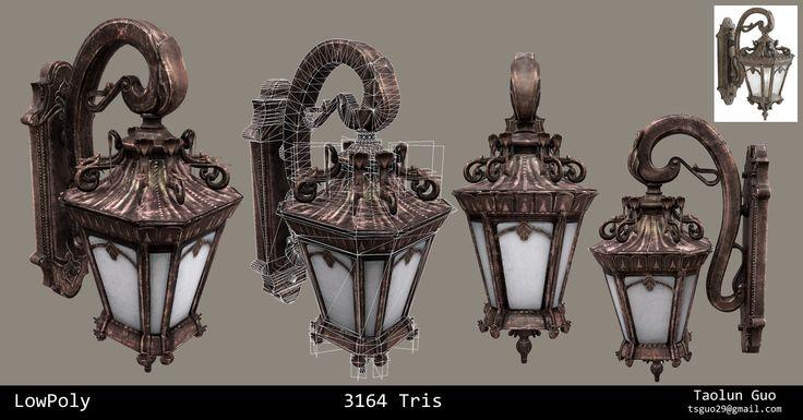 Victorian Wall Light, Taolun  Guo on ArtStation at https://www.artstation.com/artwork/victorian-wall-light