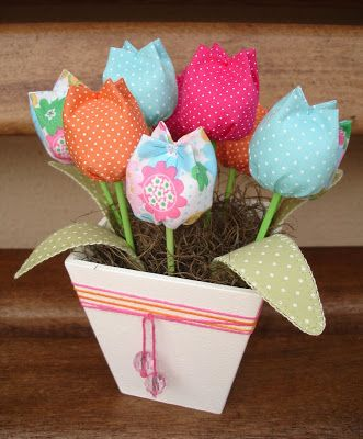 love this fabric tulips