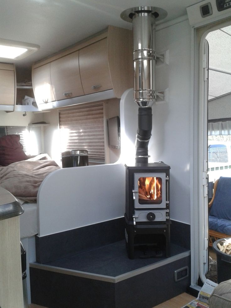 Small Stoves Installed In Vans Rv S And Trailers Mini