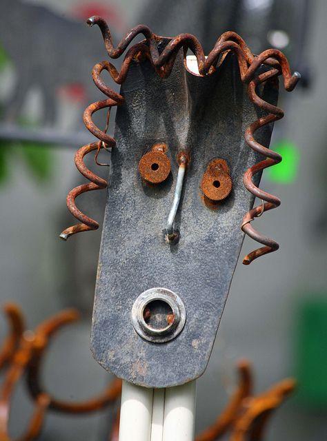 Alaskan scrap iron art at the 2011 Forest Fair in Girdwood (IMG_9682a) | Flickr - Photo Sharing!