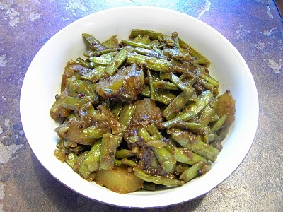 Enjoy Indian Food: Gawar Batata - Cluster Beans with potatoes