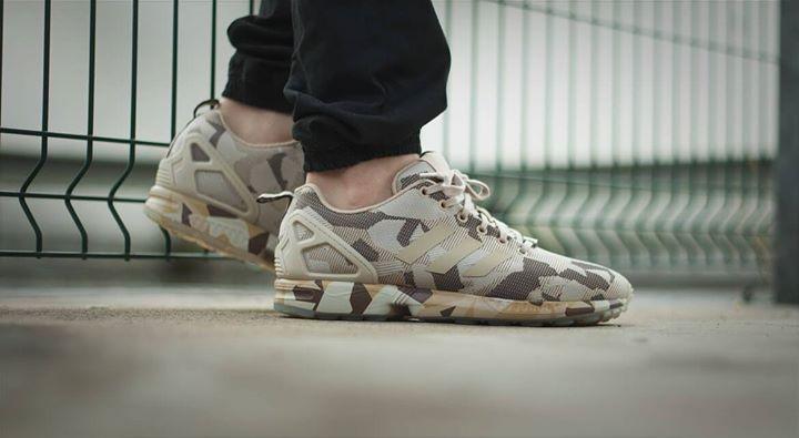 Adidas ZX Flux Camo Brown. Available now.  http://ift.tt/1KAitXR