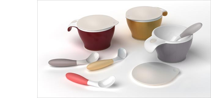 This set of thermo dining utensils is suitable for use by the elderly, who may have trouble using regular utensils due to muscular weakness and joint stiffness.