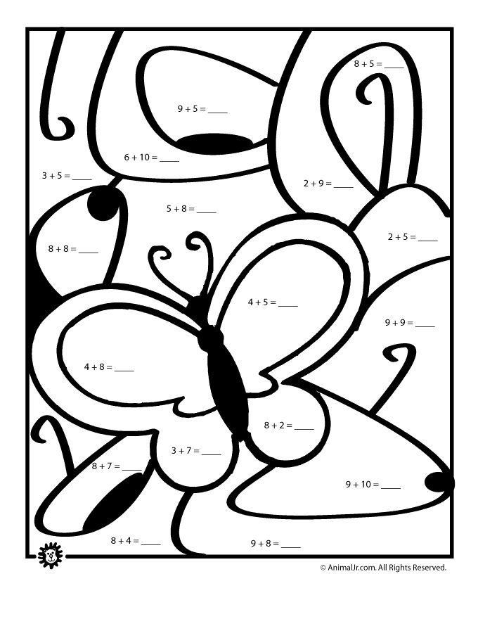 Printables Math Pages 1000 images about math coloring sheets on pinterest spring worksheets page butterfly classroom jr