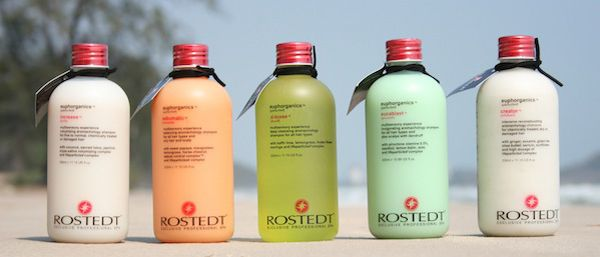 Rostedt Shampoos on the beach - Increase, Sebumatic, D-toxee, Eucablast och Creator