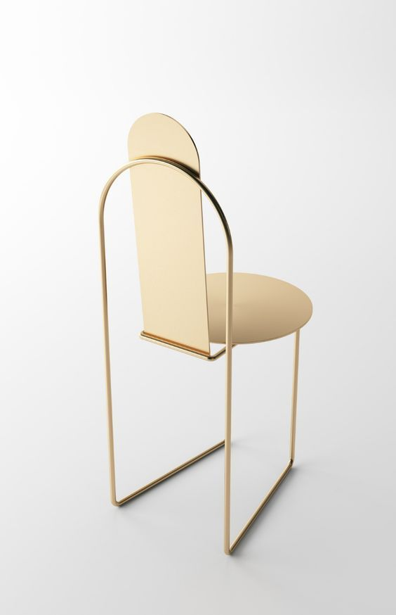 gold minimalism chair chaise minimaliste minimalism furniture minimaliste. Black Bedroom Furniture Sets. Home Design Ideas