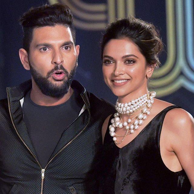 Deepika with Yuvraj Singh