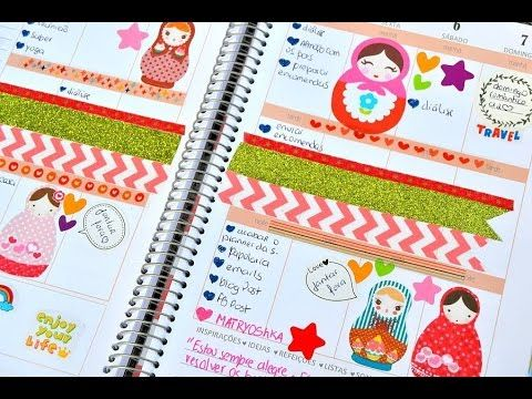 Decoração da semana no Planner Papeluxo ♥