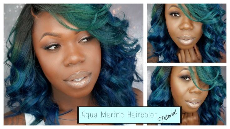 How To Get Brilliant Aqua Hair Color [Video] - http://community.blackhairinformation.com/video-gallery/weaves-and-wigs-videos/get-brilliant-aqua-hair-color-video/