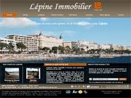 Une agence immobilière sur la Croisette à Cannes