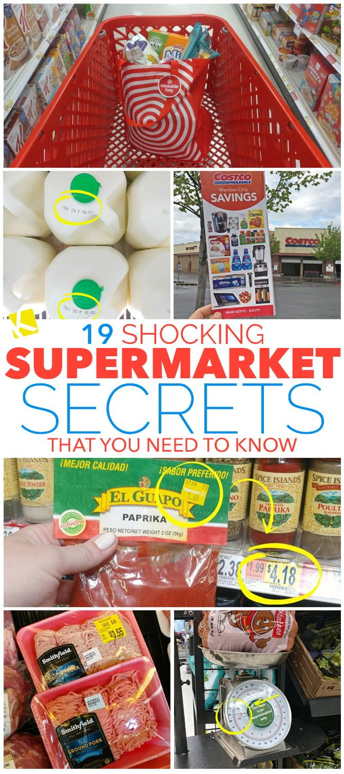 Think you know everything there is to know about grocery shopping? Read these 19 Supermarket Secrets and you'll be shocked at how much you have to learn!