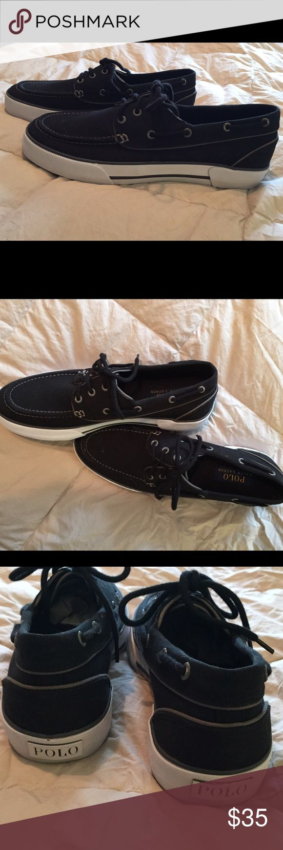 POLO by  Ralph Lauren Navy Blue Boat Shoes POLO by Ralph Lauren  Boat Shoes. Navy Blue         New w/o tags. Men's Size 8 Polo by Ralph Lauren Shoes Boat Shoes