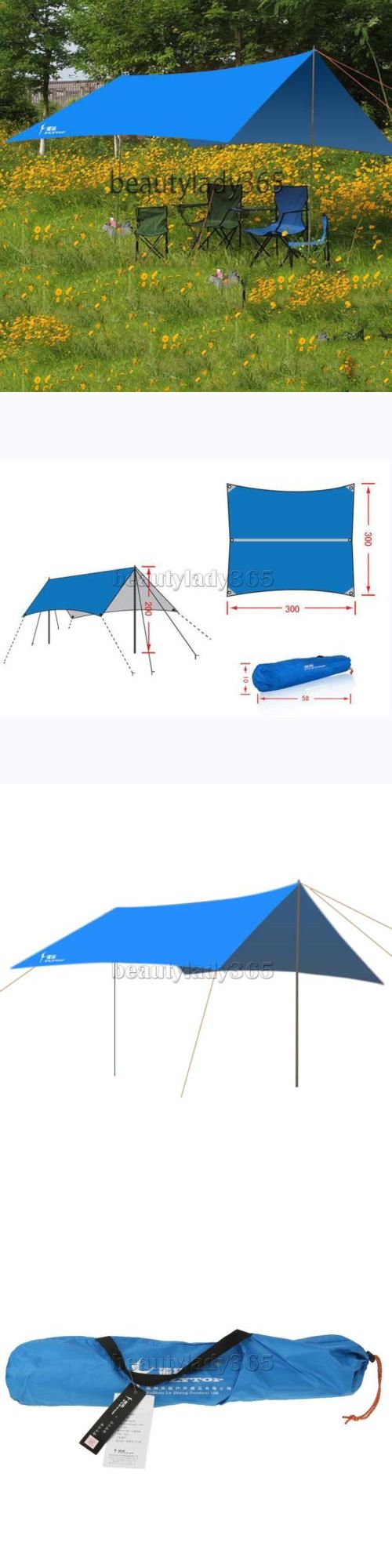 Other Tents and Canopies 179019: Waterproof Outdoor Camping Fishing Canopy Tarp Tent Sun Rain Shelter W/Poles BUY IT NOW ONLY: $32.35