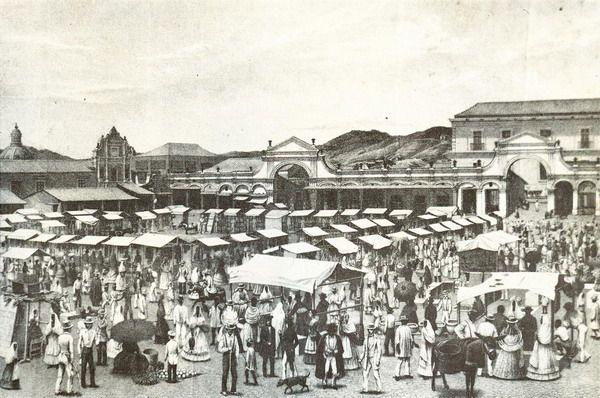 Mercado-san-jacinto Plaza el Venezolano, cerca de la Casa natal de Simón Bolívar