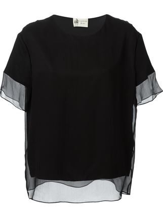 Lanvin Sheer Panel Detail Top - Vitkac - Farfetch.com