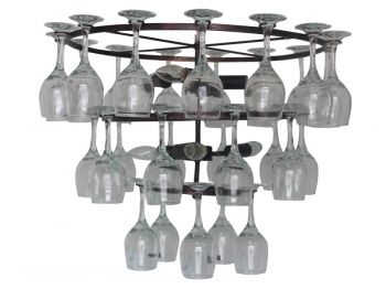 Who said wine glasses are just for drinking? #lights #lighting #wine #glass #unique