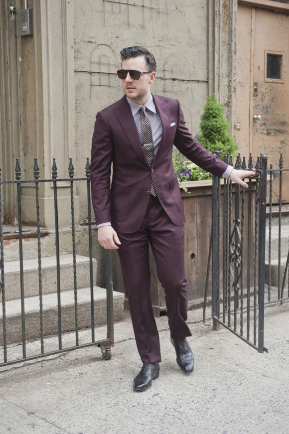 23 best Suits - Burgundy images on Pinterest | Burgundy, Groom and ...