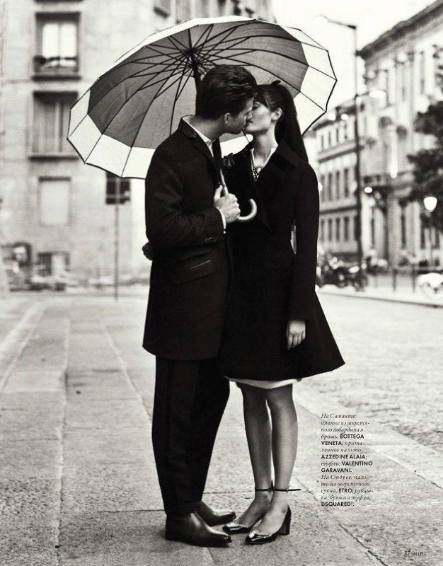 cute: Nikolay Biryukov, Engagement Pictures, A Kiss, Engagement Photo, Black And White, Elle Ukraine, Black White, Fashion Editorial, Photo Shoots