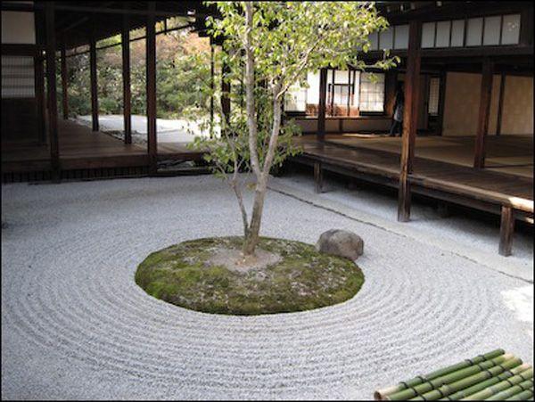 Indoor Zen Garden Ideas indoor japanese garden Japan Rock Garden Idea With Tree In Centre Indoor Zen