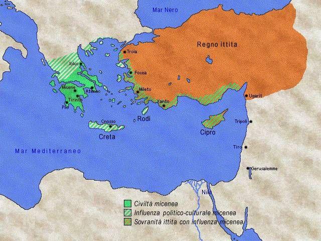 La civil tà micenea  nacque nel Peloponneso  intorno al 1600 ac, quando un popolo nomade, gli achei , vi si stabilì. Micene  era la città p...