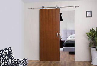 Wiorksavers Decorative Sliding Door Hardware - Barn Door Style - Top Mount | The Home Depot Canada