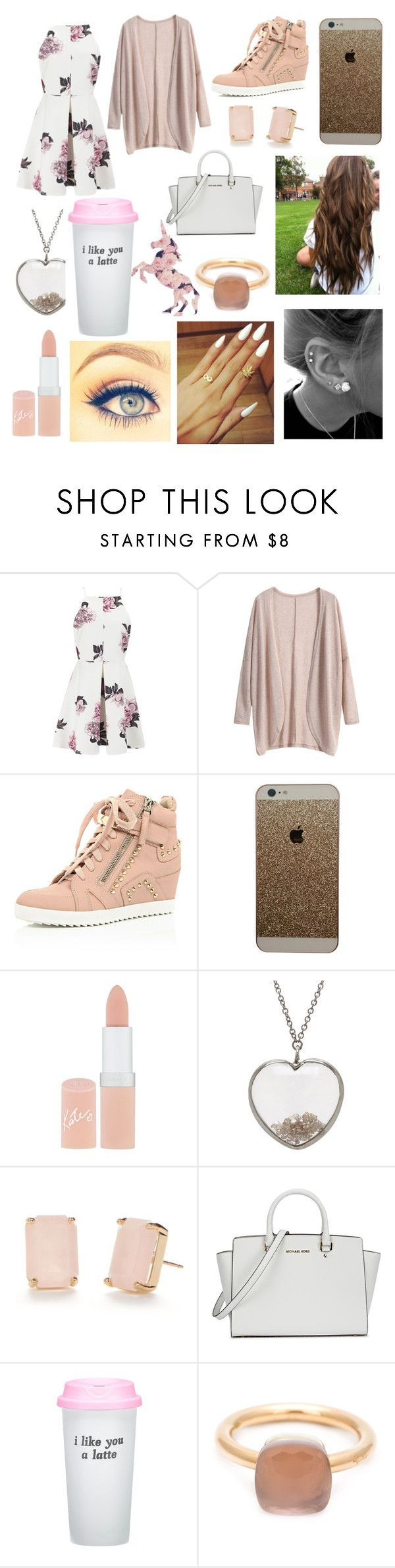 """Who wants a shoutout?!"" by hailey1011 ❤ liked on Polyvore featuring Cameo, Rimmel, ADORNIA, Kate Spade, Michael Kors, Bow & Drape, Pomellato, women's clothing, women and female"