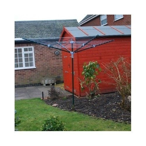 Heavy Duty 4 Arm Rotary Clothes Airer Dryer Outdoor Garden Laundry Arms Umbrella #Tooltime