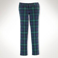 Plaid Bowery Skinny Jean - Girls 7-16 Pants & Leggings - RalphLauren.com