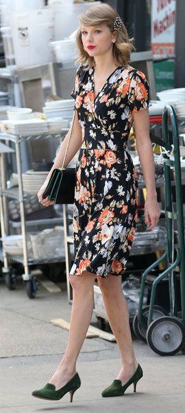 Black floral dress outfit