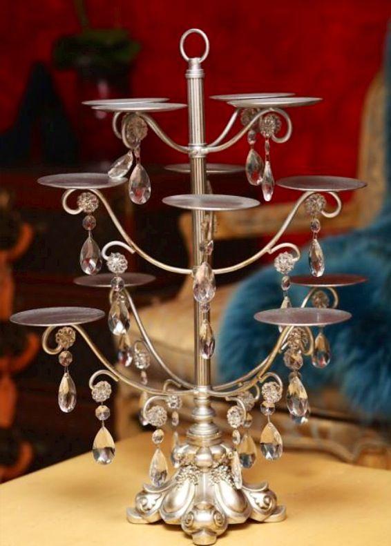 Very pretty antique silver and jewelled cupcake stand. www.coastweddingcrestions.com.au