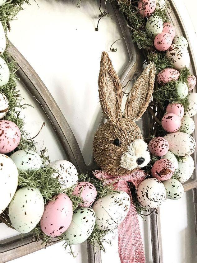 Diy Speckeld Easter Egg Wreath Easter Egg Wreath Easter Wreath Diy Easter Egg Wreath Diy