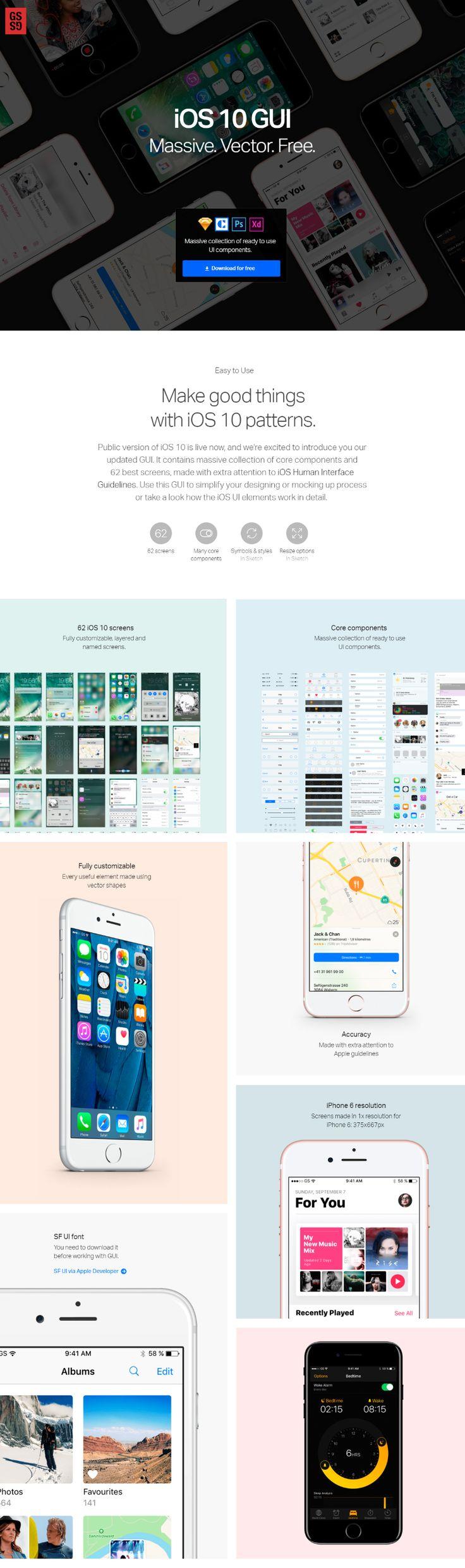 iOS 10 Massive Free UI Kit
