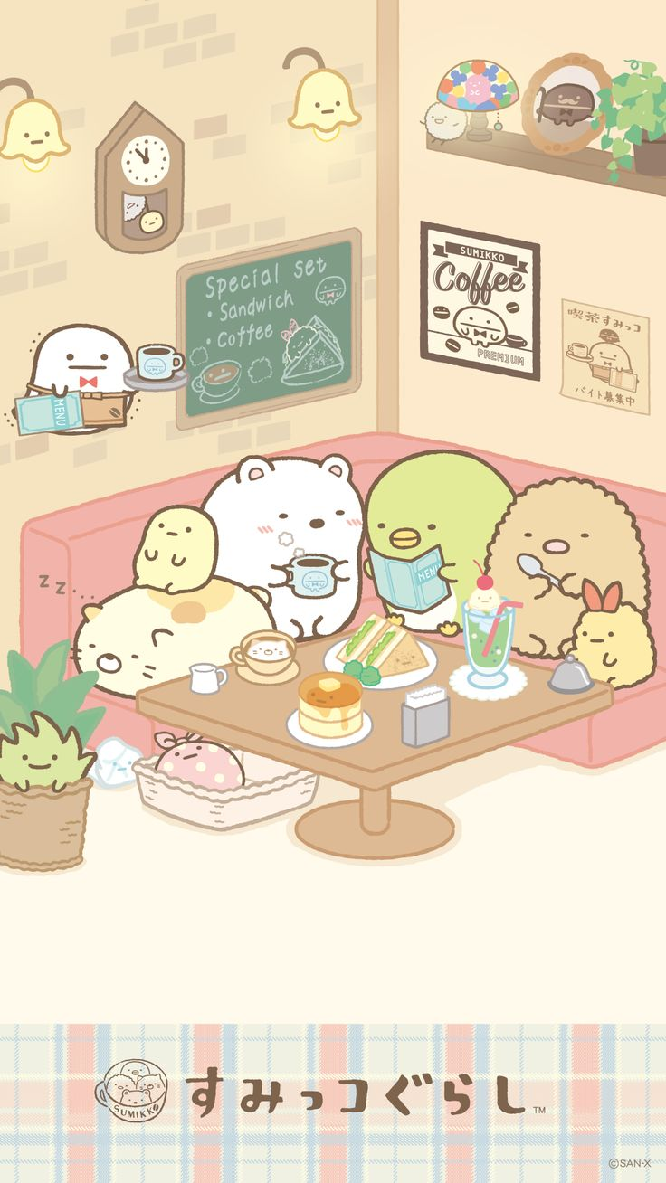 Wallpaper iphone san x - San X Sumikko Gurashi Kawaii
