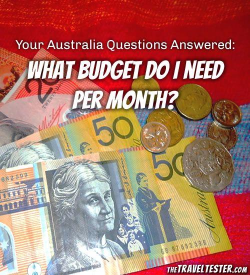 #PinUpLive - Australia Budget Per Month